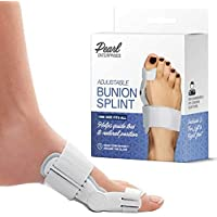 Bunion Corrector Adjustable Orthopedic Bunion Splint Toe Corrector Brace with Bunion Pads for Bunion Relief - Hallux Valgus Hinged Bunion Bootie for Nighttime Relief (2 PCS)