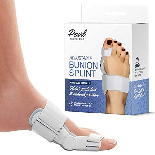 - Bunion Corrector Adjustable Orthopedic Bunion Splint Toe Corrector Brace with Bunion Pads for Bunion Relief - Hallux Valgus Hinged Bunion Bootie for Nighttime Relief (2 PCS)