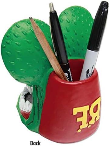 Big Daddy Roth Rat Fink Head Desk Keeper Pen Stand