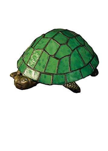 "Meyda Tiffany 10750 Turtle Tiffany Glass Accent Lamp, 4"" H"