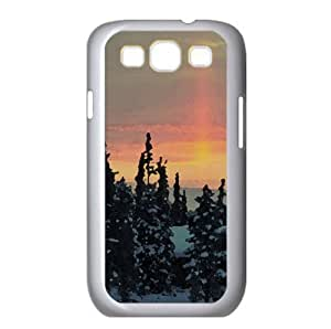 Winter Chalets Watercolor style Cover Samsung Galaxy S3 I9300 Case (Winter Watercolor style Cover Samsung Galaxy S3 I9300 Case)