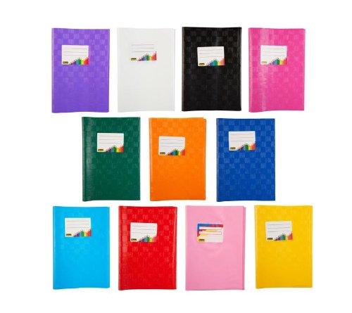 11 Heftumschlä ge/Hefthü llen DIN A5 / Baststruktur / 11 verschiedene Farben IDENA