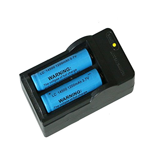 Lcyyo@ 2Pcs 1200mah 3.7V 14500 Rechargeable Li-Ion Battery f