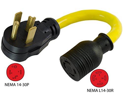 Conntek 14330 1.5-Foot Adapter 30 Amp NEMA 14-30P 4 Prong