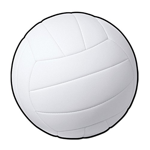 Club Pack of 24 Sports Fanatic White Volleyball Party Decoration Cutout 13.5