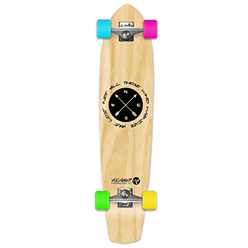 The Wander Series: Natural Complete Longboard skateboards - mini and micro cruisers (SlimKick) (Cruiser Small)