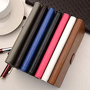 ZL Solid Color Wallet Style PU Full Body Cover with Stand and Card Slot for iPhone 6 (Assorted Color) , Rose
