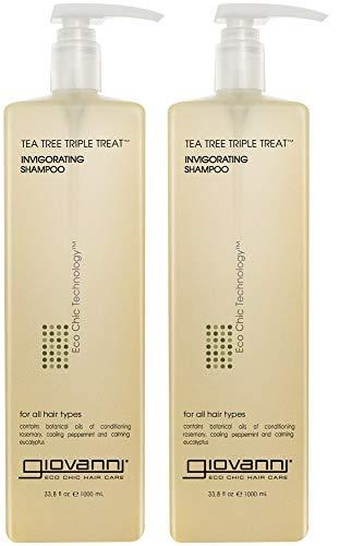 GIOVANNI COSMETICS - Eco Chic Tea Tree Triple Treat - Invigorating Shampoo (33.8 Ounce 2pk)