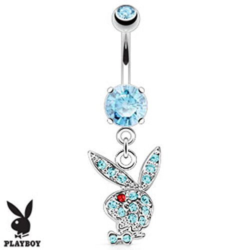 Playboy Bunny Multi Gems on Navel Ring Freedom Fashion 316L Surgical Steel