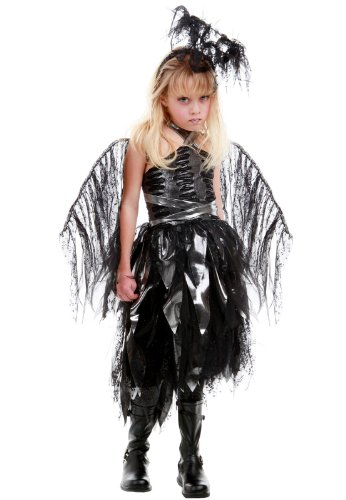 Princess Paradise - Naphil Dark Angel Child Costume - Small/Medium (6-8) (Dark Angel Halloween Costume For Kids)