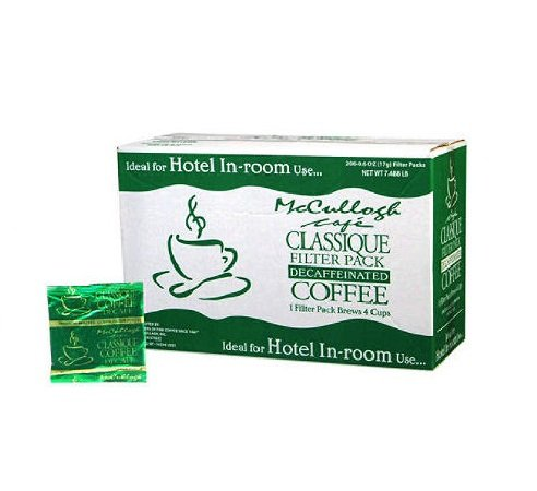 In-Room Preportioned Filter Coffee-Decaf-200 pk. by McCullagh