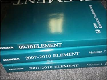 2009 2010 2011 honda element service shop repair manual set w wiring diagram:  honda: amazon com: books