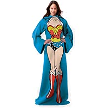 "Northwest Wonder Woman,Being Wonder Woman Adult Comfy Throw Blanket with Sleeves, 48"" x 71"""