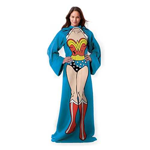 Wonder Woman  Being Wonder Woman Adult Comfy Throw With Sleeves  48  X 71