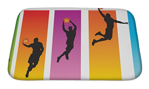 Gear New Memory Foam Bath Rug, Basketball Slam Dunk, 24x17, 6282871GN