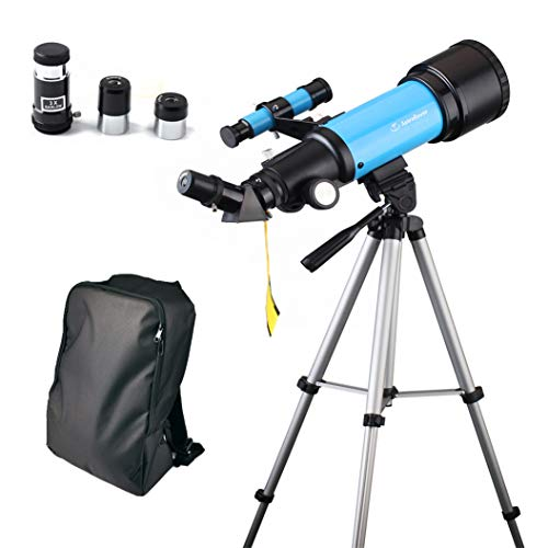 JingleStar Telescope for Kids Beginners, 70mm Astronomical Refracter Telescope - Travel Scope with Tripod & Finder Scope - Perfect for Children Educational and Gift (Blue)