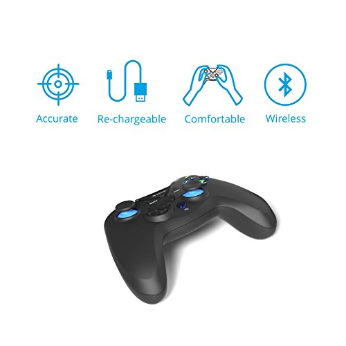 Gamepad / Joystick WeTek for Android systems (smart boxes, mobile phones and smartphones, tablet, mobile gaming), Amazon Fire TV, Gamefly, Steam OS and Windows PC USB 2.0 Bluetooth Wireless Li-Battery by WeTek (Image #2)