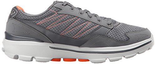 Skechers Go Walk 3, scarpe da ginnastica da uomo Grey (Charcoal/Orange)