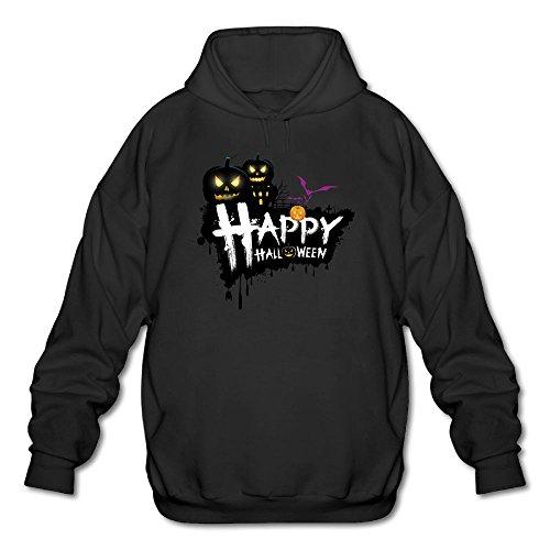 Men's Hooded Sweatshirts Comfortable Happy Halloween Pumpkin Cotton Hooded Pullover Hooded -