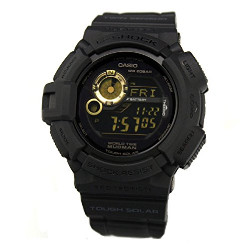 Casio Men's G9300GB-1 G Shock Digital Quartz Black Solar Watch by Casio