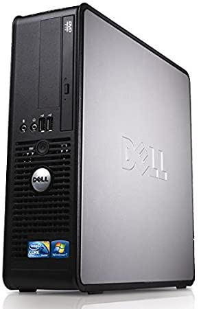 WiFi enabled Windows 10 Dell Optiplex Desktop PC, Dual Core, 4GB Ram, 160GB Hard Drive, DVD (Renewed)