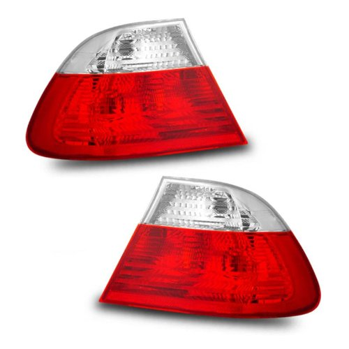 SPPC 2 Door Taillights Red/Clear For BMW 3 Series E46 - (Pair) (E46 Tail Lights)