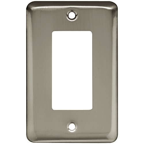 (Franklin Brass W10251-SN-C Stamped Round Single Decorator Wall Plate/Switch Plate/Cover, Satin Nickel)