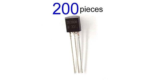 10 2N3906 transistores de propósito general-Paquete de 5 2N3904 20 o 50