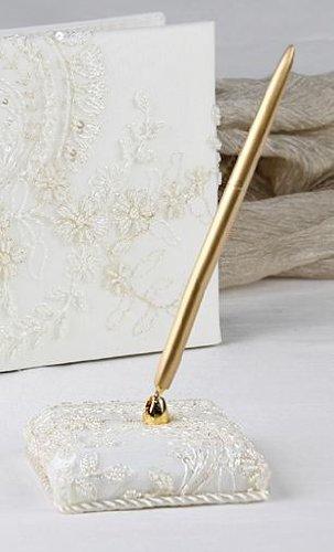Victorian Pen Holder Set WHITE by Beverly Clark Wedding Accessories