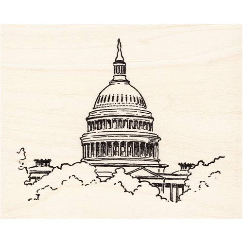 Captial Building Rubber Stamp