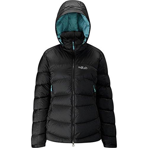 Rab Ascent Jacket - Women's-Black/Sea QDE-61-BL-16 ()