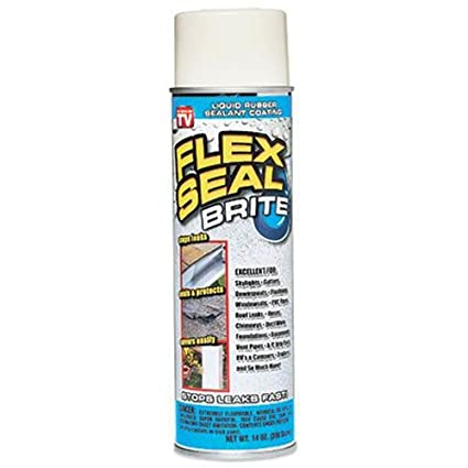 Flex Seal Brite Liquid Rubber Sealant Coating, 14 Ounce, Brite