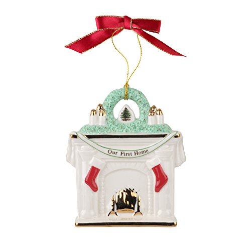 (Spode Our First Home Fireplace 2017 Christmas Tree Ornament)