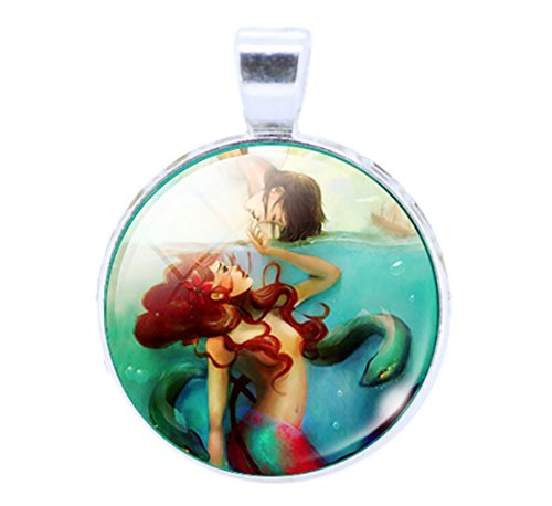 Lord & Taylor Pendant Necklace (DaisyJewel Little Mermaid in Dangerous Waters Pendant Necklace with Scroll Chain)