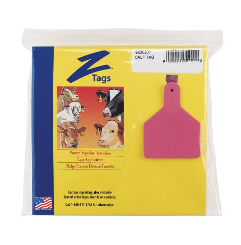 Z Tags 25 Count 1-Piece Blank Tags for Calves, ()