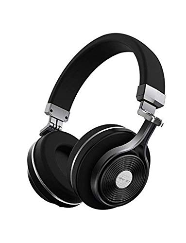 - Bluedio T3 Extra Bass Bluetooth Headphones On Ear with Mic, 57mm Driver Folding Wireless Headset, Wired and Wireless Headphones for Cell Phone/TV/PC Gift (Black)