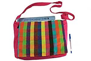 Arco iris telares rhfbnb02–hecho a mano tejido a mano de grosor Tejido de algodón guardería infantil Rainbow Solapa bolsas