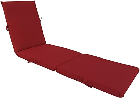 Bossima Indoor Outdoor Lounge Chair Cushions Chaise Bench Seasonal Replacement Cushions Patio Furniture Cushions Rust Red Kitchen Dining