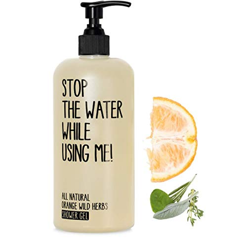 STOP THE WATER WHILE USINGME! All Natural Shower Gel: Orange Wild Herbs Body Wash, Provides Deep Cleaning and Freshness for Tired, Sensitive & Dry Skin, Paraben & Cruelty Free, 6.7oz
