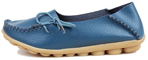 Bleu Fangsto Basses Clair Loafer Femme Flats wq6qngpP