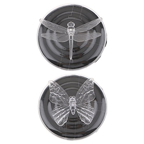 Baoblaze 2x Solar Floating Water Decor Dragonfly & Butterfly LED Light Color Changing Lamp Swimming Pools Garden Ponds Decoration by Baoblaze