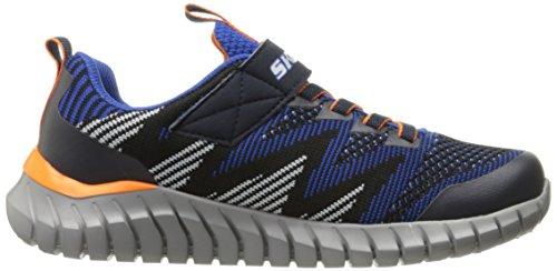 Kid Da Navy nero Bambini Skechers Ragazzi Black Tennis Scarpa Little Blu Spektrix S4zxqwR7