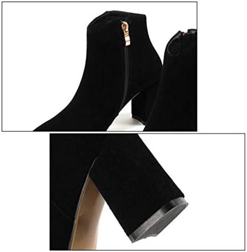 YIWU Botines Pequeños Puntiagudos Mujer Nuevo Otoño E Invierno Botas De Tacón Alto Botas De Tobillo (Color : Negro, Size : EU36/UK4/CN36)  FT5yh