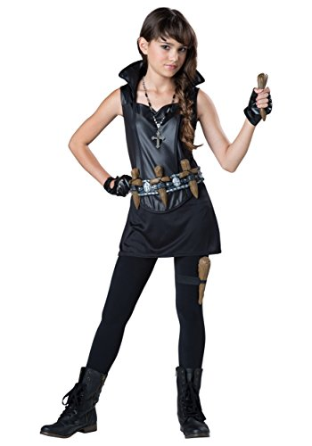 Vampire Stake Costume (InCharacter Costumes Tween's Vampire Slayer Costume, Black, Small)