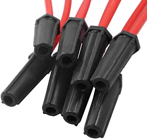 32819 QUALINSIST Set of 8 Sparking Plug Wire Sets Compatible with Buick Rainier Chevy Silverado//Suburban//Tahoe GMC Sierra//Sierra 1500// Yukon 1999-2013 Equivalent with OE