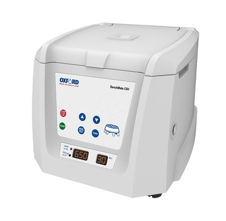 C6V, Oxford LP Clinical Centrifuge, Comes with a Fixed Angle Rotor (6 x 10/15ml Capacity) and adapters for Smaller 5ml, 7ml, 9/10 ml & 1.5/2 ml Tubes, Precise RPM Setting from 500-6500.