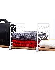 12 Pack Plastic Shelf Dividers, Closet Shelf Organizer Divider and Separator for Storage and Organization, Plastic Shelf dividers for Wood Shelf