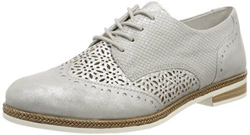 Remonte Damen D2601 Oxfords Silber (Silber/Shark)