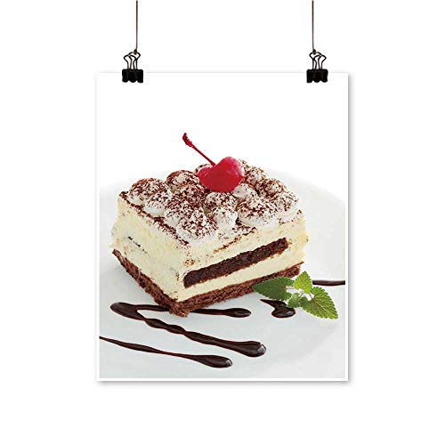 Rich in colorpastry Tiramisu The Mint The Cherries Print Decor for Living Room,32