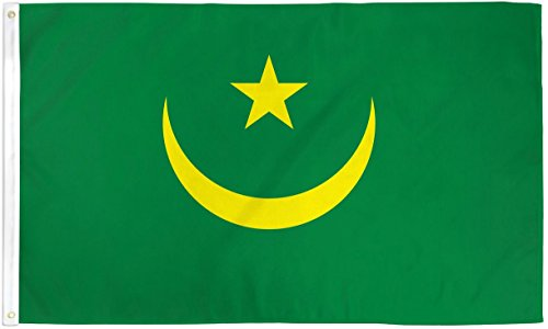 3x5 Mauritania Flag Lot of 2 Flags Super Polyester Nylon Flag 3'x5' House Banner 90cm x 150cm Grommets Double Stitched Premium Quality Indoor Outdoor Pole Pennant (New)
